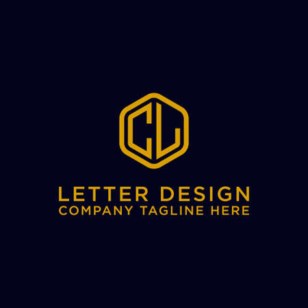 logo design inspiration for companies from the initial letters of the CL logo icon. -Vector Logó