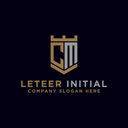 logo design inspiration for companies from the initial letters of the CM logo icon. -Vector