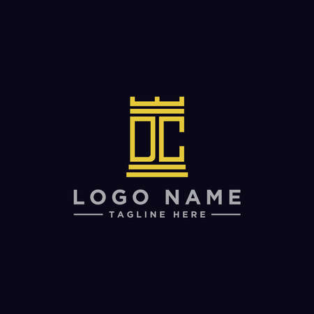 logo design inspiration for companies from the initial letters of the DC logo icon. -Vector Stockfoto - 151087985