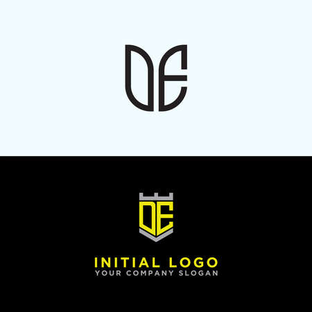 Inspiring logo design Set, for companies from the initial letters of the DE logo icon. -Vectors