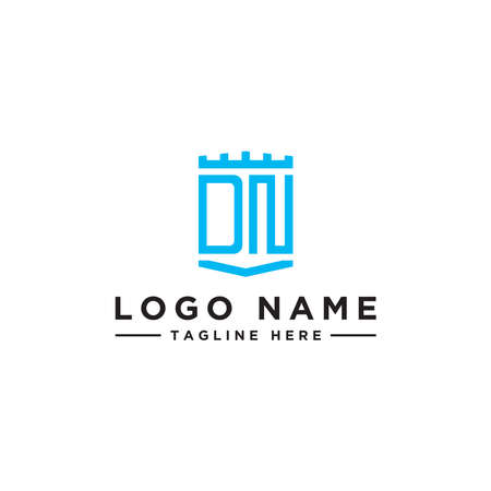 logo design inspiration for companies from the initial letters of the DN logo icon. -Vector Ilustração