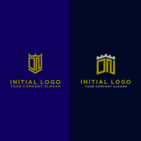 Inspiring logo design Set, for companies from initial letters to the DN logo icon. -Vectors