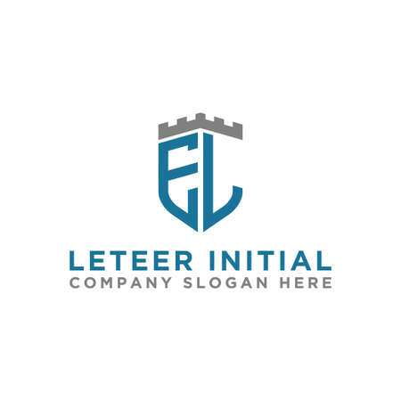 logo design inspiration for companies from the initial letters of the EL logo icon. -Vector Logo