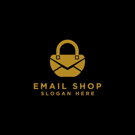 Email shopping icon with a modern concept and eps 10 vector design concept - Vector Ilustrace