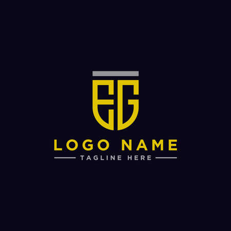 Logo design, Inspiration for companies from the initial letters of the EG logo icon. -Vectors Logó