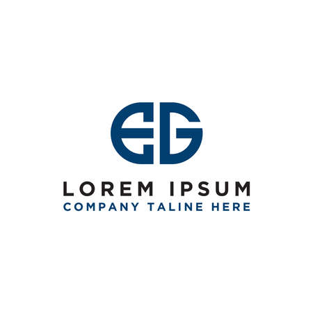 Logo design, Inspiration for companies from the initial letters of the EG logo icon. -Vectors