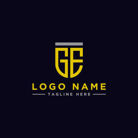 logo design inspiration for companies from the initial letters of the GE logo icon. -Vector