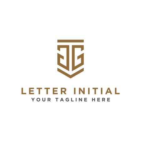 logo design inspiration for companies from the initial letters of the GG logo icon. -Vector Illusztráció