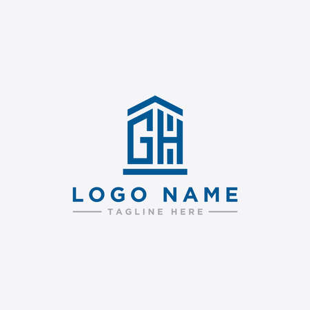 logo design inspiration for companies from the initial letters of the GH logo icon. -Vector