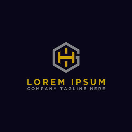 logo design inspiration for companies from the initial letters of the GH logo icon. -Vector Logó