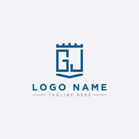 logo design inspiration for companies from the initial letters of the GJ logo icon. -Vector