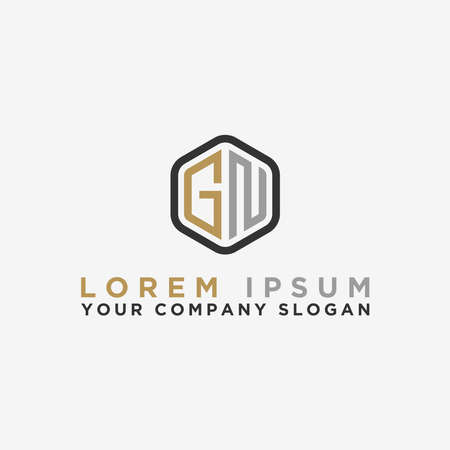 logo design inspiration for companies from the initial letters of the GN logo icon. -Vector