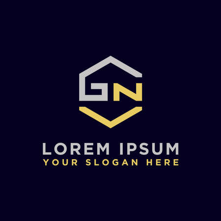 logo design inspiration for companies from the initial letters of the GN logo icon. -Vector Logó