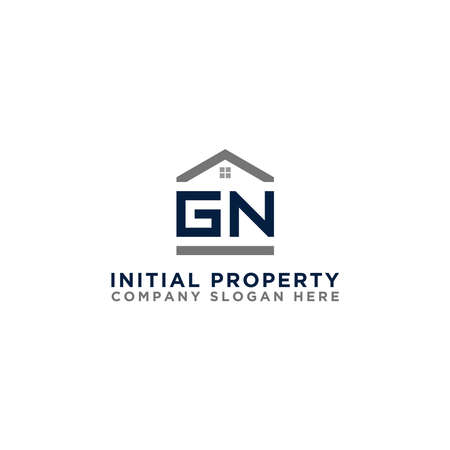Logo template vector Design, property, real estate with GN initials - Vector