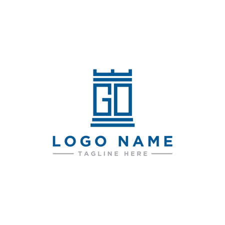 inspiring logo design, for companies from the initial letters of the GO And OG logo icon. -Vectors 일러스트