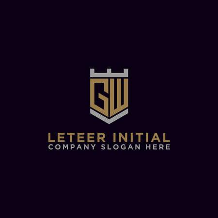 Letter GW Initial icon / logo design Monogram inspiration. - vector