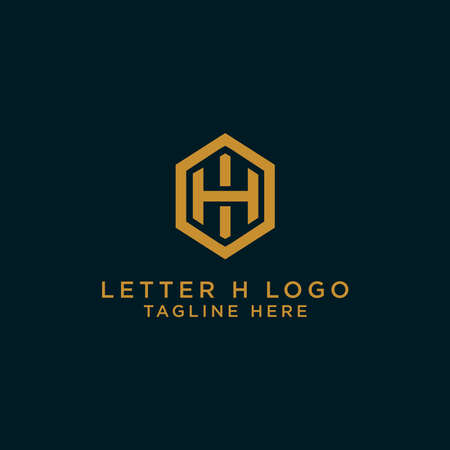 Letter H Initial icon / Monogram.- Vector inspirational logo design - Vector