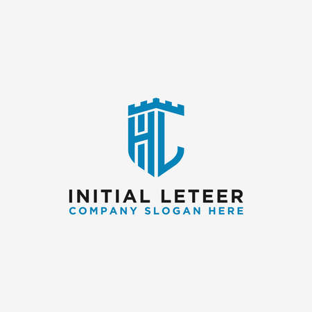 HL letters Initial icons / Monogram.- Vector inspiration logo design - Vector