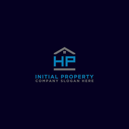 Logo template vector Design, property, real estate with the initials HP - Vector