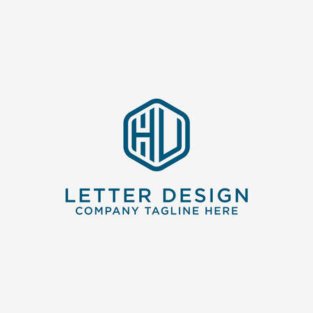 logo design inspiration for companies from the initial letters of the HV logo icon. -Vector Illusztráció