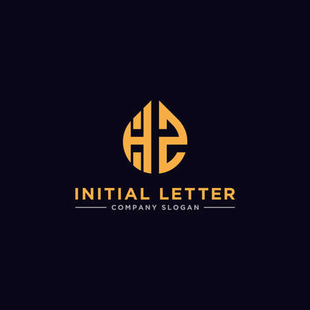 logo design inspiration for companies from the initial letters of the HZ logo icon. -Vector