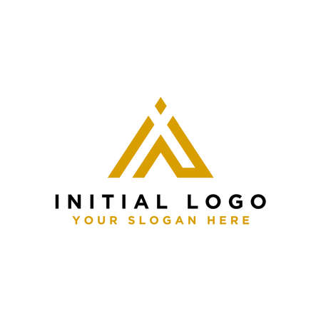 Creative and Minimalist Logo Design Icons with the letter IN, Can be Edited in Vector Format, - Vector