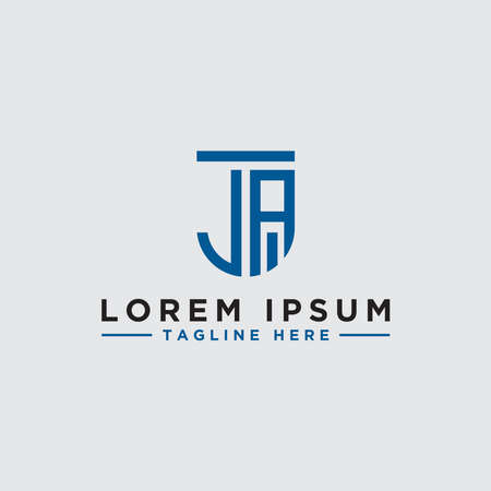 Letter JA Initial icon / Monogram.- Vector inspiration logo design - Vector