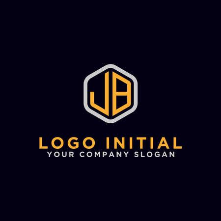 JB letters Initial icons / Monogram.- Vector inspiration logo design - Vector