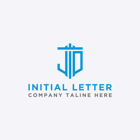 logo design inspiration for companies from the initial letters of the JD logo icon. -Vector
