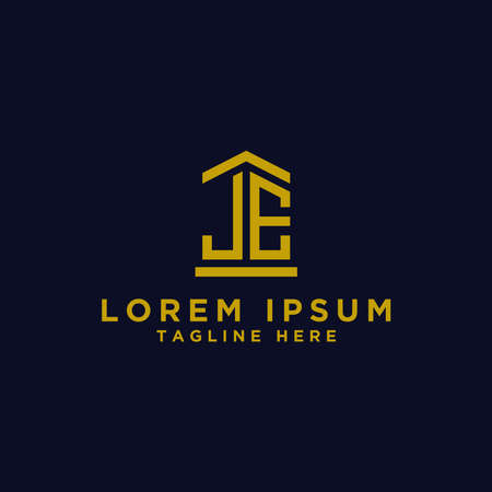 Inspiring company logo designs from the initial letters JE logo icon. -Vectors Stock Illustratie
