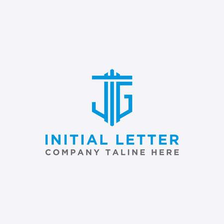 Letter JG Initial icon / Monogram.- Vector inspiration logo design - Vector Stock Illustratie