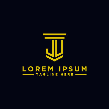 Inspiring company logo designs from the initial letters JU logo icon. -Vectors