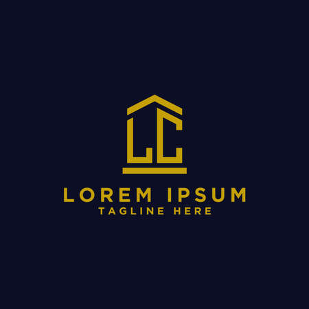 logo design inspiration for companies from the initial letters of the LC logo icon. -Vector Logó