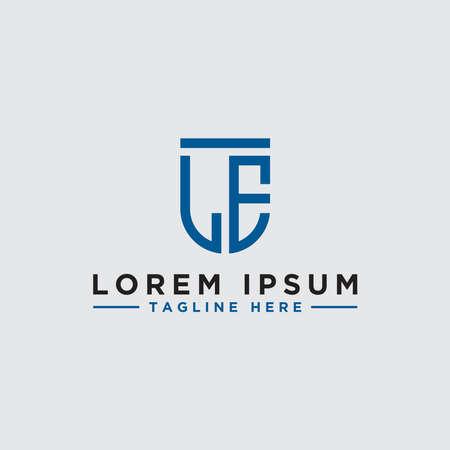 Letter LE Initial icon / Monogram.- Vector inspiration logo design - Vector