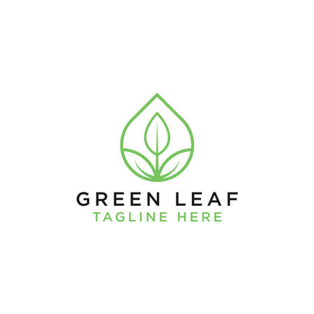 Simple leaf logos are linear style vector designs. - Vector