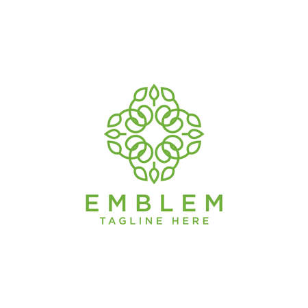 Flower logo. Flower icon. Flower emblem. Cosmetics, Spas, Beauty salons, Decorations, Boutique logos. Luxury, Business. - Vector