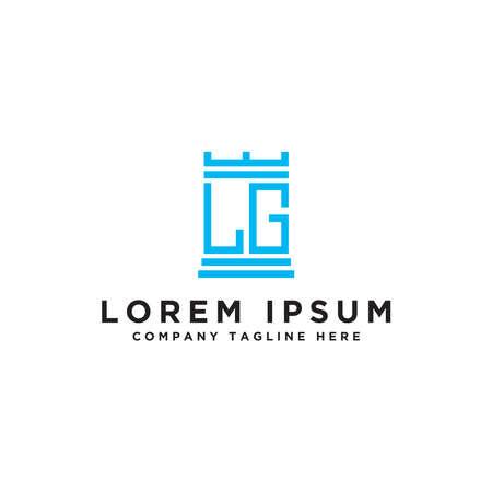 LG letters Initial icon / Monogram.- Inspiration logo design vector - Vector