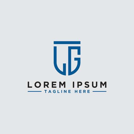 LG letters Initial icon / Monogram.- Inspiration logo design vector - Vector Ilustrace