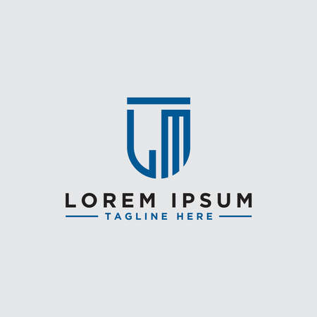 LM letters Initial icon / Monogram.- Inspiration logo design vector - Vector