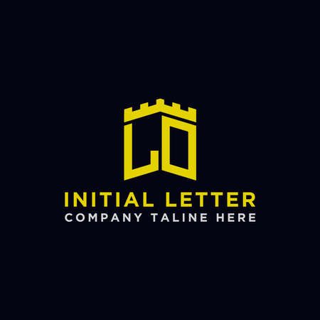 logo design inspiration for companies from the initial letters of the LO logo icon. -Vector