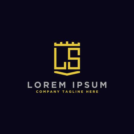 Letter LS Initial icon / Monogram.- Inspiration logo design vector - Vector