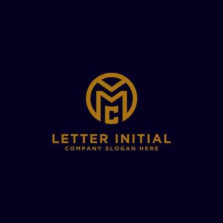 MC letters Initial icon / Monogram.- Inspiration logo design vector - Vector