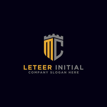 MC letters Initial icon / Monogram.- Inspiration logo design vector - Vector Ilustrace