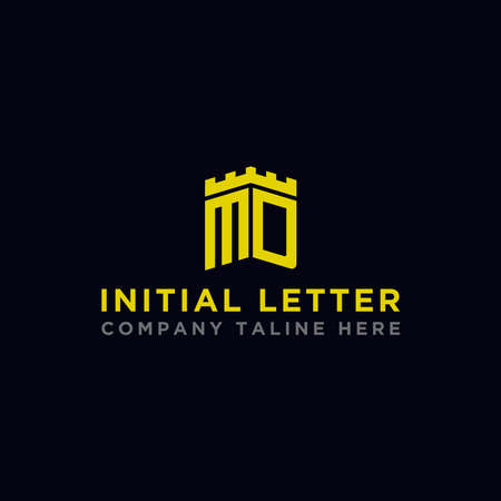 logo design inspiration for companies from the initial letters of the MD logo icon. -Vector