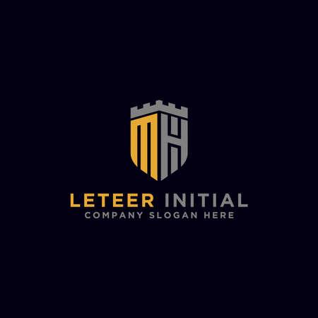 Letter MH Initial icon / Monogram.- Inspiration logo design vector - Vector Logó
