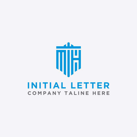 Letter MH Initial icon / Monogram.- Inspiration logo design vector - Vector