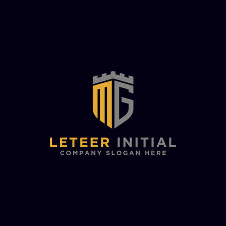 logo design inspiration for companies from the initial letters of the MG logo icon. -Vector
