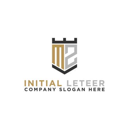 MZ letters Initial / Monogram icons. - Vector inspiration logo design - Vector