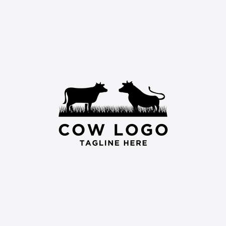 collection of cattle logo vector. Cow Design - Vector