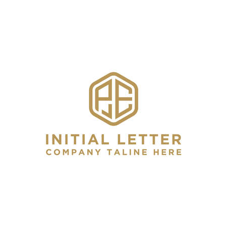 logo design inspiration for companies from the initial letters of the PE logo icon. -Vector Logo